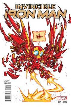 Cover for Invincible Iron Man (Marvel, 2015 series) [Skottie Young Babies Variant] Marvel Comics, Ms Marvel, Chibi Marvel, Marvel Art, Marvel Heroes, Comic Book Artists, Comic Artist, Comic Books Art, Skottie Young