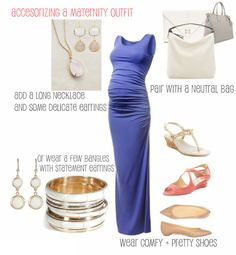 The Small Things Blog: Accessorizing a Maternity Outfit