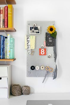 Try This: Metal Grate Memo Board | A Beautiful Mess | Bloglovin'