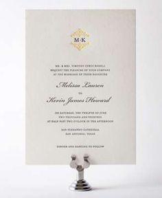 Fillmore Wedding Invitation