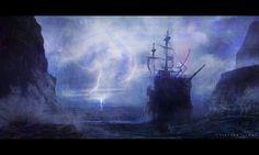 Dangerous Sailing, Kristian Llana on ArtStation at http://www.artstation.com/artwork/dangerous-sailing