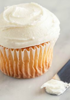 Three-Ingredient Frosting – What do you get when you mix together cream cheese, marshmallow crème, and whipped topping? The perfect, fluffy cream cheese frosting, that's what. #TwistThatDish