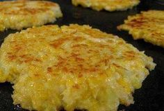 Cheesy Cauliflower Patties Ingredients: 1 head cauliflower 2 large eggs 1/2 c cheddar cheese, grated… 1/2 c panko 1/2 t cayenne pepper (more of less to taste) salt olive oil Instructions: Cut cauliflower into florets & cook in boiling water until tender about 10 minutes. Drain. Mash the cauliflower while still warm. Stir cheese, eggs, panko, cayenne & salt to taste. Coat the bottom of a griddle or skillet with olive oil over medium-high heat. Form the cauliflower mixture into patties about…