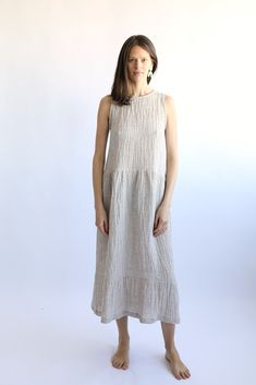 Natural Gustave Dress — Korinne Vader...