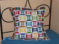 """""""completed mini quilt, made into a pillow sham for guest room"""""""