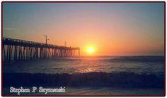 Outer Banks NC Local Artists Facebook post  5/29/15:  Nags Head Pier Sunrise.  Photographer credit:  Stephen P Szymanski.