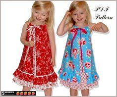 two layer pillowcase dress pattern -- unique idea!