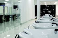 Multi-award winning hairdressing brand with more than 50 years of experience in education,. Hair Salon Interior, Salon Interior Design, Log Siding, Toni And Guy, Hairdresser, Salons, Modern Design, Coast, Interiors