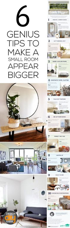 Make a small room feel and appear bigger with these 6 easy tips!