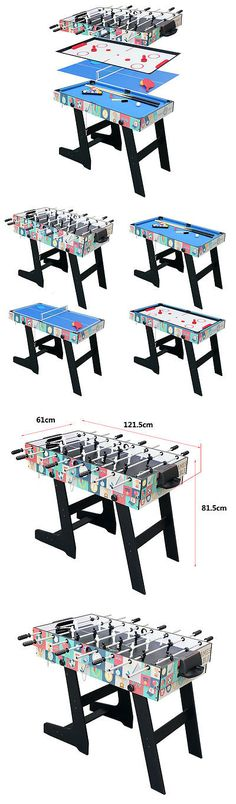 Other Indoor Games 36278: 4Ft Folding Pool Table Tennis Hockey Foosball  Table 4 In 1