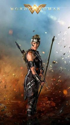Actress Robin Wright as Antiope in Wonder Woman