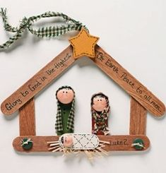 Nativity arts and crafts for kids to make. Best nativity crafts ideas using craft sticks, wooden doll pegs, paper, clay, clay pots. Nativity crafts for adults. Make Christmas nativity art. Nativity Ornaments, Nativity Crafts, Christmas Nativity, Noel Christmas, Diy Christmas Ornaments, Christmas Gifts, Christmas Decorations, Nativity Scenes, Homemade Christmas