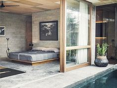 46 Minimalist Master Bedroom Design Trends Ideas - About-Ruth Master Bedroom Design, Home Bedroom, Bedroom Decor, Bali Bedroom, Bedrooms, Garden Bedroom, Interior Architecture, Interior And Exterior, Casa Hotel