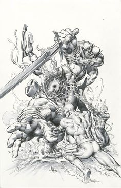 #Hulk #Fan #Art. (New Avengers Vs Hulk #23 Cover) By: Mike Deodato. (Daredevil, Spider-Man, Hulk, Wolverine! Ms. Marvel)(MAKE SURE TO LOOK AROUND, YOU DON'T WANT TO MISS ANYTHING!)