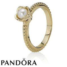 Pandora 14ct Morning Flower Ring 79328