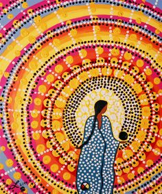 Leah Dorion Gallery 2006 - Leah's paintings honour the spiritual strength of Aboriginal women and the sacred feminine. Leah believes that women play a key role in passing on vital knowledge for all of humanity which is deeply reflected in her artistic practice.