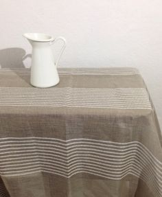 Attrayant Linen Tablecloth French Country Red Striped Table от Linenbeeshop |  Christmas Decor Style | Pinterest | Linen Tablecloth, Linens And Rustic  Table