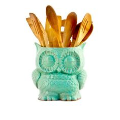Owl Planter Large Mint  by claylicious