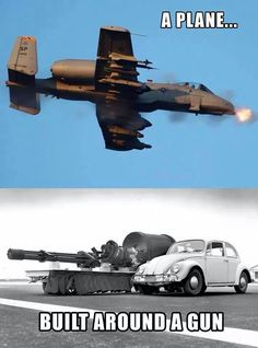 The A-10 thunderbolt II and it's 30mm GAU-8 Avenger cannon will open up a tank like it was a tin can.