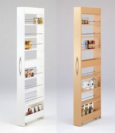 Maybe we could put this somewhere for some skinny storage space More