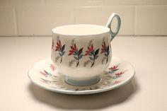 Teacup and Saucer China Teacup  Rosina Tea Cup by ClockworkRummage, $12.75 Etsy Vintage, Vintage Shops, 50 Off Sale, Vintage Kitchen Decor, Vintage China, China Porcelain, High Tea, Teacups, Clearance Sale