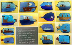 Liidut: pullolaiva + itsearviointi. Crafts For Kids, Arts And Crafts, 4th Grade Art, Art Lessons, Art Projects, Drawings, School, Pirates, Water