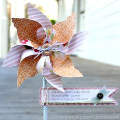 PaperVine: Summer Pinwheels - includes a link to the Cameo template..