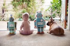 robot- baby-robot- dog -Awesome baby photography session!!