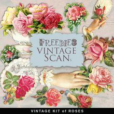 Freebies Vintage Kit- flowers
