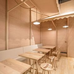 wood chipping onion designs all wood eatery at emquartier Japanese Restaurant Design, Japanese Interior Design, Wood Interior Design, Cafe Interior, Interior Decorating, Bangkok, Restaurants, Bath And Beyond Coupon, Cafe Restaurant