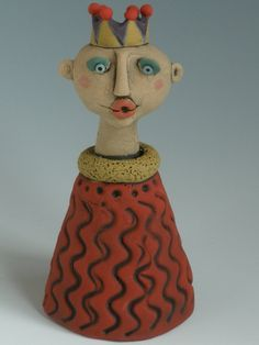 Little Prince, CERAMIC FIGURINE, Little People, Clay Sculpture, Woman, Sculpted Figure, Porcelain figure, Clay People, Clay Sculpture by KimberlyRorick on Etsy