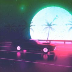 Stream & Tory Lanez Freestyle Type Beat - Flex (FREE) by allvert from desktop or your mobile device Night Aesthetic, Neon Aesthetic, Film Aesthetic, Neon Palm Tree, Gifs, Vaporwave Wallpaper, Beautiful Flowers Wallpapers, Gif Photo, Cyberpunk Art