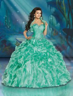 Shop for Disney Royal Ball Quinceanera Dresses and Gowns online. Look like your favorite Disney Princess during your Sweet 15 party. Sweet 16 Dresses, 15 Dresses, Pretty Dresses, Girls Dresses, Wedding Dresses, Winter Wedding Outfits, Fashion Dresses, Disney Inspired Dresses, Disney Dresses