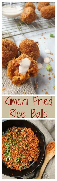 Kimchi Fried Rice Balls are crunchy, spicy, and savory! Make this for your next holiday party or gathering!