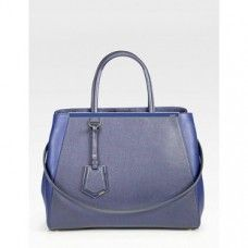 FENDI JOURS HORSEHAIR MEDIUM TOTE BAG  High quality horsehair in Blue color exterior with fine calfskin leather trim  Detachable leather shoulder strap . Double rolled handles Open top with snap-button tab closure  Metallic hardware pieces  Center zip compartment creates two open compartments, two inside open pockets  Luggage tag  Soft fabric lining  Protective bottom feet  Free Shipping on all Orders Worldwide.