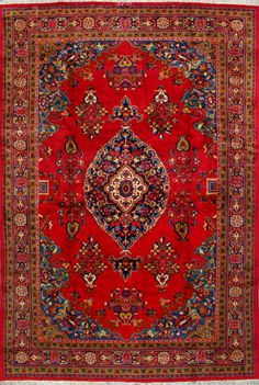 "Sarough Persian Rug, Buy Handmade Sarough Persian Rug 6' 11"" x 10' 8"", Authentic Persian Rug"