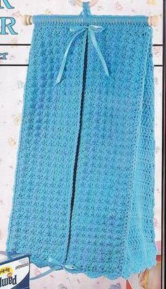 Vintage Crochet Diaper Stacker. I think this would also work for guest towels.