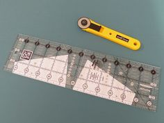 Using templates but taking advantage of a ruler - great idea!