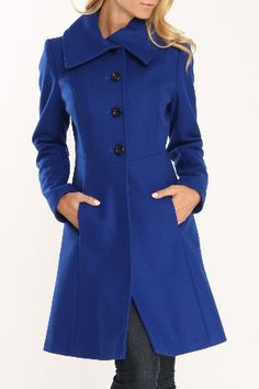 Laundry, Nicole Miller, Steve Madden - Beyond the Rack---I want a blue coat so bad!