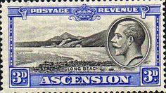 Ascension Islands Stamps 1934 King George V SG 25 Long Beach Fine Mint Scott 26  Other Ascension Island Stamps HERE