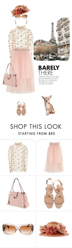 """""""Peaches and cream"""" by pensivepeacock ❤ liked on Polyvore featuring LUISA BECCARIA, Mother of Pearl, Louis Vuitton, Pour La Victoire and Prada"""