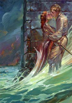 Fantasy Mermaids Kissing | Spring Tide by ~KaiCarpenter on deviantART