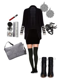 """Beetlejuice"" by basakb on Polyvore featuring moda, BCBGMAXAZRIA, Gianvito Rossi, LeSportsac, Bobbi Brown Cosmetics ve NARS Cosmetics"