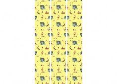 papier peint jaune Fiep Westendorp 'Animaux de la forêt' KEK Amsterdam   shop pour enfants Le Petit Zèbre
