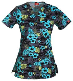 """Stay """"On Island Time"""" in this Dickies scrub top!   The Uniform Outlet"""