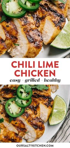 Transform boneless skinless chicken breasts into a tender, juicy, and super flavorful main dish with this simple chili lime marinade. Grilled Chili Lime Chicken is very easy to prep, and perfect for a healthy weeknight dinner. You can easily scale the heat up or down to make it more kid friendly, so it's a great choice for a family friendly meal that everyone will devour. #chicken #grilling #grilledchicken #lowcarb #paleo Dinner Recipes Easy Quick, Healthy Pasta Recipes, Grilled Chicken Recipes, Healthy Pastas, Easy Healthy Dinners, Quick Easy Meals, Lunch Recipes, Kid Recipes, Healthy Kid Friendly Dinners