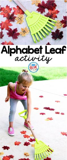 Alphabet Leaf Activity encourages toddlers, and preschool and kindergarten students to get up and move while learning. This is the perfect addition to a fall literacy center.