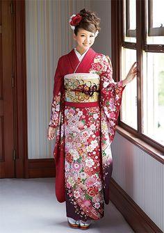 着こなしで差がつく伝統の赤野お振袖。