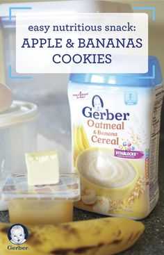 Looking for new ways to serve your toddler the solid foods they love? Check out this nutritious snack, complete with helpful article and this recipe for Apple and Bananas Cookies to get started! Plus, you can find Gerber® Infant Cereals at Target.