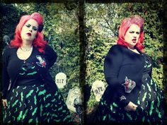 #PlusModelMag Sponsored Plus Trend: Hell Bunny Vampire Coffin Cardigan at Mystic Crypt #PLUSmodelmag